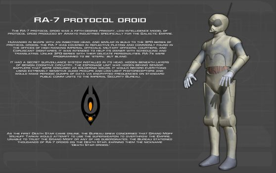 RA-7 Protocol Droid tech readout [New] by unusualsuspex
