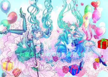 HAPPY 10TH BIRTHDAY HATSUNE MIKU!!! by Tsukizami