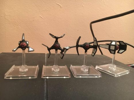 star wars x wing miniatures first order paint 1 by thatguy4802