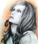 a pensive woman by myway8D
