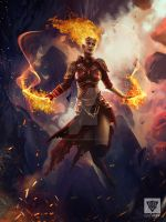Chandra The Flame Halo by GunshipRevolution