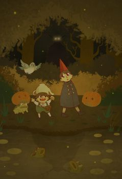 Over the Garden Wall by cheshirecatart