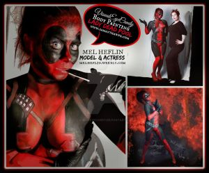 Lady deadpool Body Painting By SamanthaWpg.com