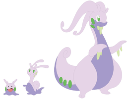 Goomy, Sliggoo and Goodra Base