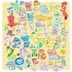 all the baby neopets by amigo