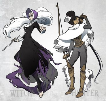 Winter witch and hunter by ming85