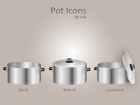 Pot icons by usk