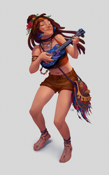 Lily the hippie bard by Kristoff-Kristoff