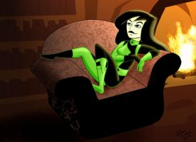 Shego by the Fireplace by LMColver
