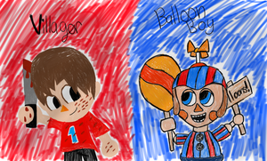 Villager and BB by Riyana2
