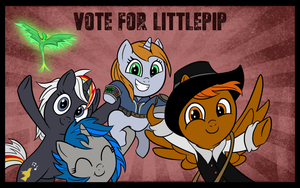 Vote for Littlepip! [MLP:FIM - Fallout: Equestria] by Saundersaur