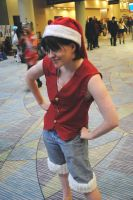 Christmas Hat Luffy by youmee400