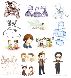 SPN daily sketch dump by xPrincessSakurax