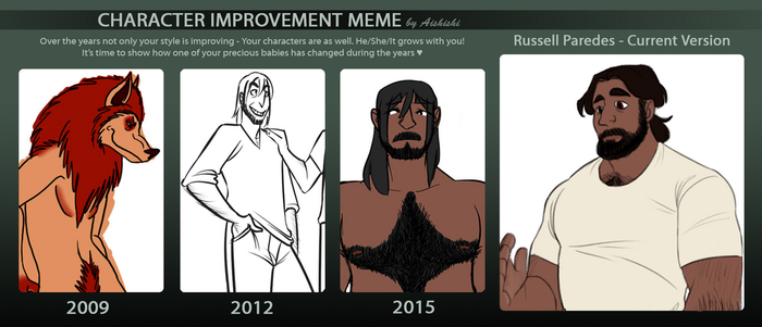OC Improvement Meme - Russell by aves-panthera