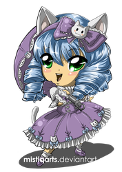 Chibi Cat Lolita by Mistiqarts