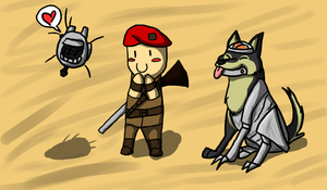 An Eyebot, a Sniper, and a Dog by PvtPuma