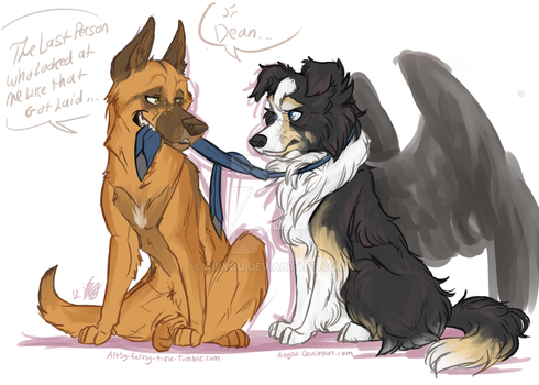 All Dogs Go To Heaven..Except Dean by Aibyou