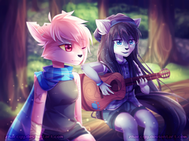 You And I (Carazure Art Contest Entry) by Zharleste