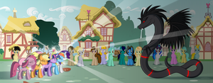 Ponyville crowd - Ponyville cameos by Culu-Bluebeaver