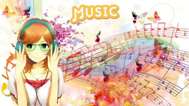 Wallpaper - Music anime girl by Jacks-Gaming-Room