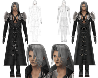 Sephiroth HD - Before and After by NipahMMD