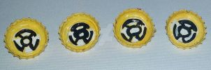 Yellow Lantern Fear Pins by wolf-girl87