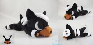 Houndour Laying Plush Poketime Style by dollphinwing
