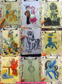 Trotcon 2014 Sketch Cards by alex-heberling