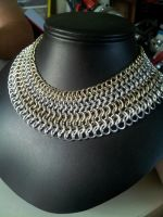 Wide Chainmaille necklace by BacktoEarthCreations