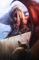 Just Me and My Dragon... by Vyrilien