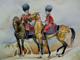 Golden horses of Turkmenistan by dashket