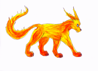 Flame Wolf by thekoolkyogre
