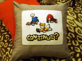 Sonic cushion YAY by ine-rocks
