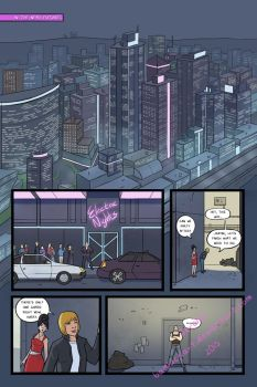 Cyber City Comic - Page 1 preview by BadLuckArt