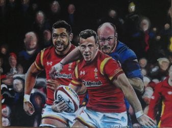 Taulupe and Gareth Davies by Sculptbrown