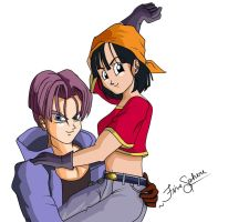 Dragon Ball Z couple by alisonjohnsonfox