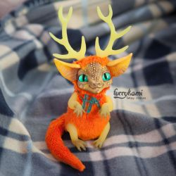 Dragon art toy by Furrykami-creatures