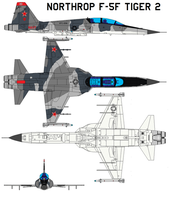 Northrop F-5F Tiger 2 by bagera3005