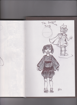 Frisk Sketch and The Burgur King by NinjaObsessed