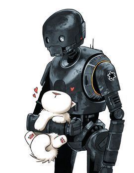 K2SO and Kitten by MaryLuellyn
