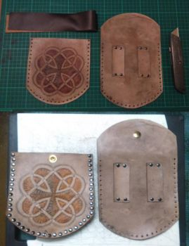 carved leather pouch 02wip by armourplatedlegion