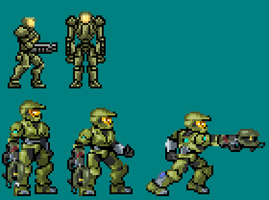 Master Chief Metroidized by OneCallGat