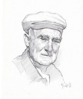 Old man portrait OMPV by SILENTJUSTICE