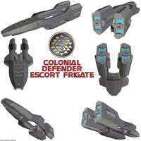 Colonial Defender Frigate (TOS) by Chiletrek