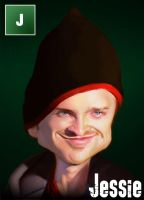 Breaking Bad Caricature - Jessie Pinkman by Sycra