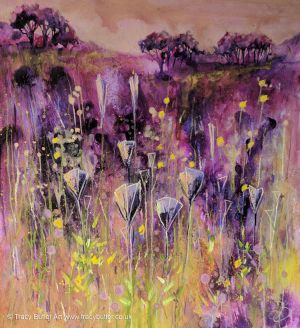 Through Purple Meadows by tracybutlerart