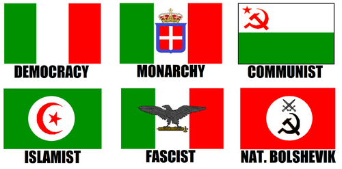 Alternate Flags of Italy by wolfmoon25