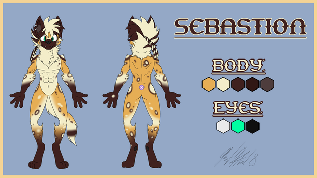 Sabastion Character Sheet (Gift Commission) by CHAOKOCartoons