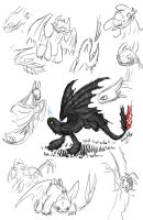 Toothless Sketch Dump by ScaleBound