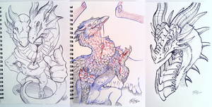 Sketches in Febuary 2016 by Leundra